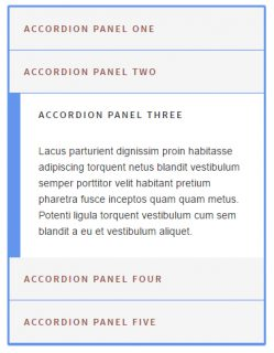 Accordion Class Pure JS / CSS3 with vertical sliding Panels