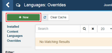 creating new language override